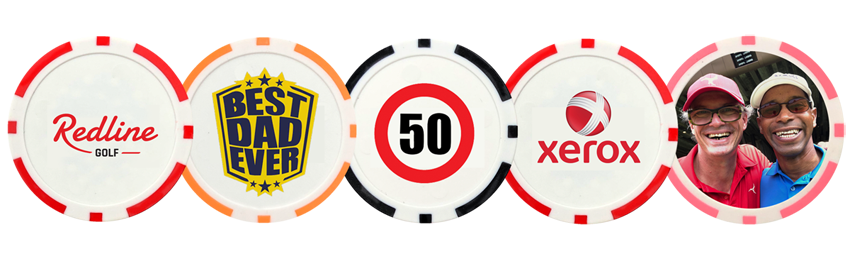 personalised golf poker chip markers