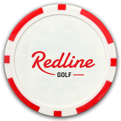 poker chip golf bal marker redline logo