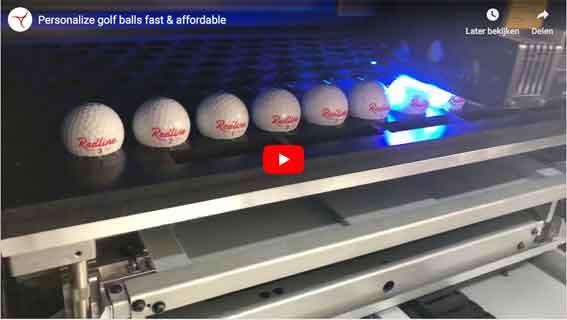 personalised golf balls UV printing