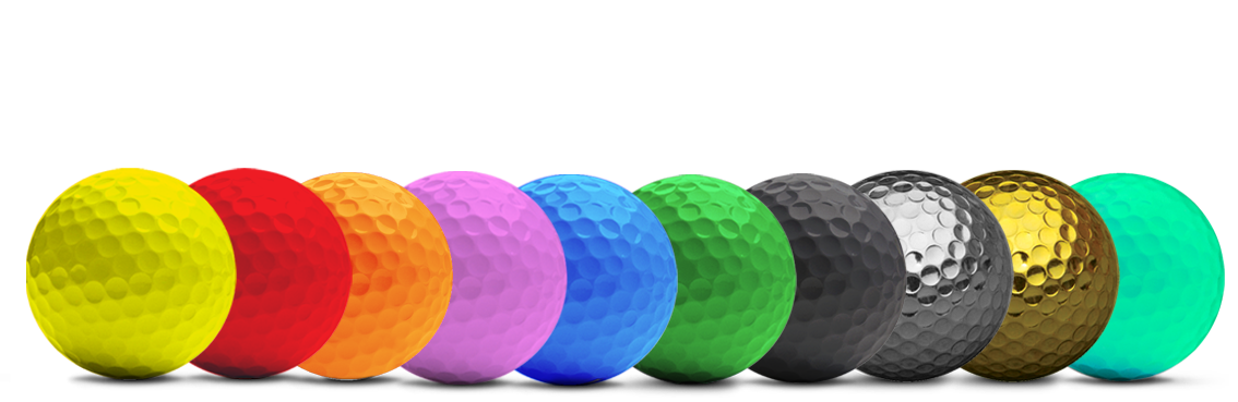 coloured golfballs