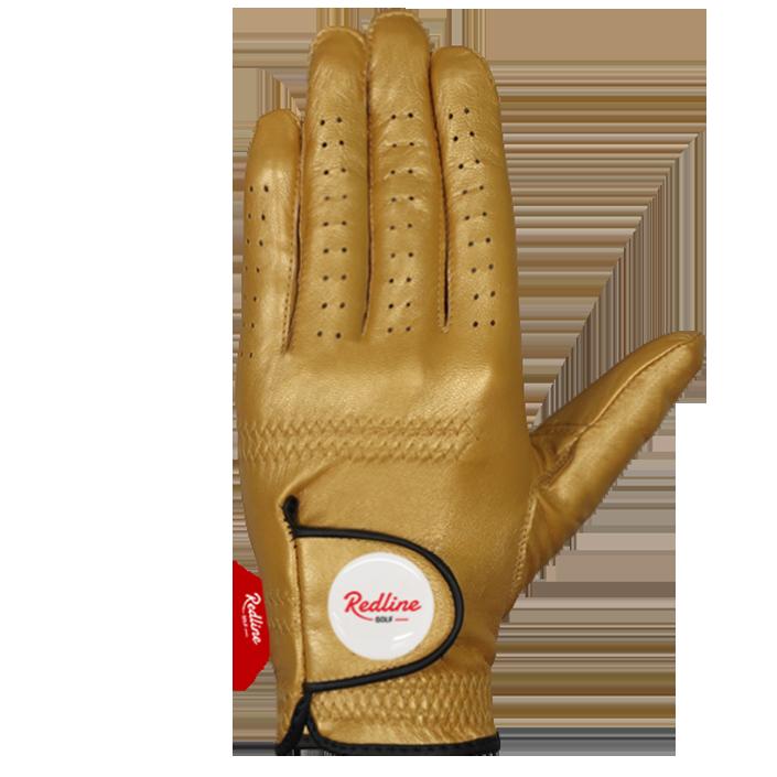 Golden golf glove